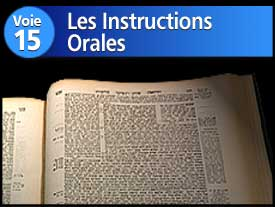 Voie n°15 : Les Instructions Orales